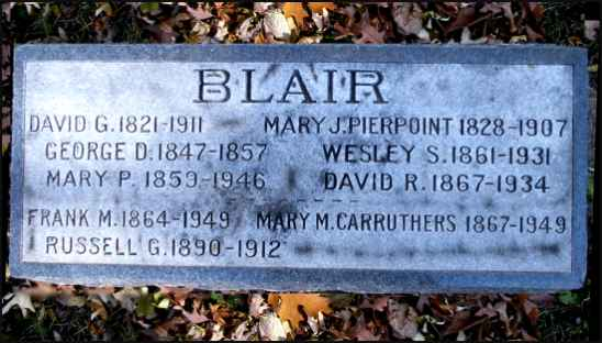Blair Family Headstone